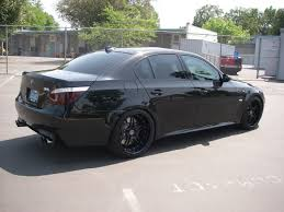 custom black bmw black bmw m5 with black rims another combo from wheels