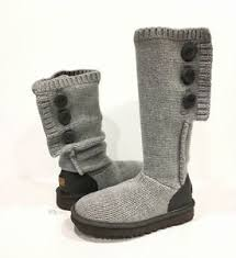 s cardy ugg boots grey ugg 1014460 cardy boots gray 100 knit