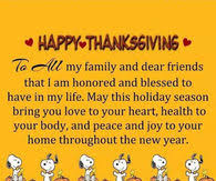 happy thanksgiving to all my friends and family thankgiving