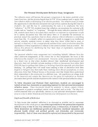 Reflective Writing Sample Essay Sample Personal Reflection Essay Golvslipning
