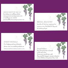 wedding registry inserts winery wedding enclosure cards etiquette wording sizing wine