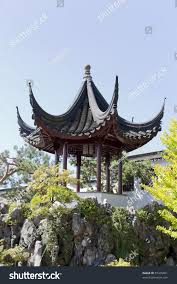 family garden chinese pagoda chinese garden dr sun yatsen stock photo 87445601