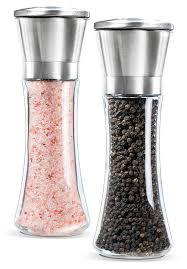 elegant salt and pepper shakers stainless steel