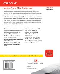 oracle crm on demand deployment guide oracle press jeff saenger