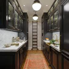 black and white galley style kitchen design ideas
