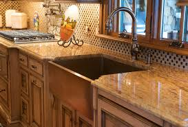 kitchen pros and cons of copper used in copper kitchens awesome copper kitchen design glossy stone counter top off white cabinets chess patterned backsplash glass