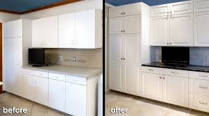 diy cabinet door refacing white cabinet refacing before and after kitchen reface before after