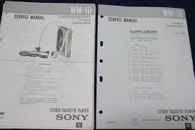 original sony wm 10 stereo cassette player walkman service manual