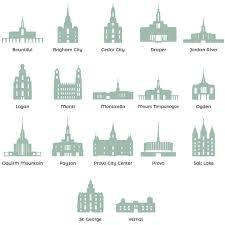 Lds Temples Map Personalized Temple Vector Poster Square In Lds Family Posters
