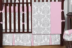 Jojo Crib Bedding Sweet Jojo Designs 9 Pink Gray And White
