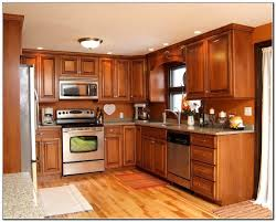 maple kitchen cabinets and wall color interior design