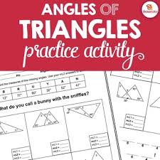 angles of triangles activity triangle angle sum exterior angle