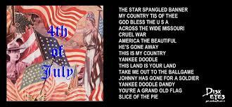 American Flag Doodle Americana Disk Eyes