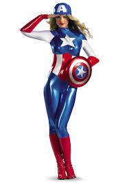 Costumes Halloween Adults Marvel American Dream Bodysuit Women U0027s Costume Features Bright