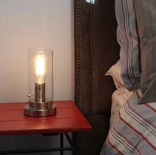 Edison Bulb Table Lamp Light Accents Antique Style Table Lamp With Vintage Edison Bulb Brush