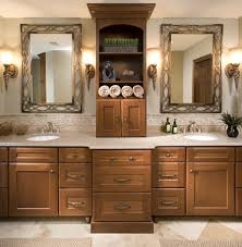Double Sink Vanities For Small Bathrooms by His And Her U0027s Master Bathroom Vanity With Double Sinks And Ample