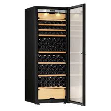 Wine Cabinet With Cooler by Transtherm Castel Wine Cabinet Glass Door Brushed Aluminum New