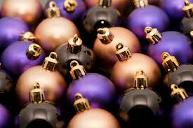 Purple Gold Christmas Decorations Free Stock Photo 6798 Christmas Bauble Background Freeimageslive