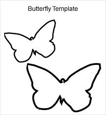 small butterfly template