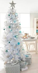 tall white coastal beach christmas trees with seahorse and fish
