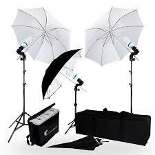 cheap umbrella lighting kit limostudio 600 watt photography video portrait umbrella continuous