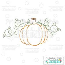 swirly vine pumpkin free svg sketch file for drawing on silhouette