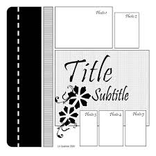 100 best scrapbook 5 photos single page layouts sketches images