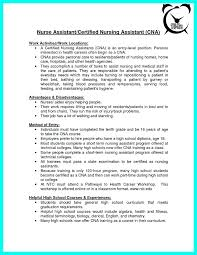 chemist resume objective resume for cna resume a entry level cna resume objective