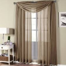 Sheer Swag Curtains Valances Amazon Com Gorgeous Home 3pc Taupe Tan Voile Sheer Window Curtain