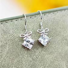 real earrings 100 real 925 sterling silver earrings austrian drop