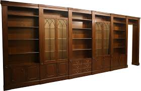 fine quality yew and mahogany reproduction combination units a1