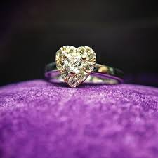 inel de logodna aur alb inel de logodna din aur alb si roz cu diamant inima aed172290