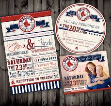 Baseball Wedding Invitations Vintage Style Baseball Red Sox Themed Or Any By Nimbidesign 5 00