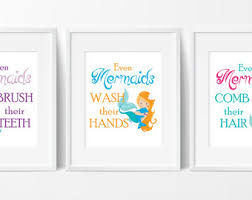 Mermaid Bathroom Decor Mermaid Bathroom Etsy