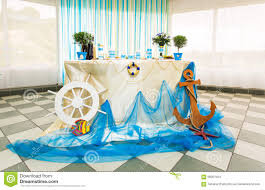 wedding decorations tropical sea style stock photo image