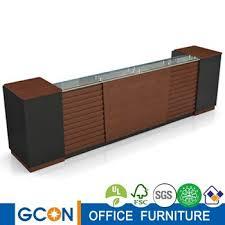 Wood Reception Desk Modern Design Melamine Reception Table Reception Desk Wooden