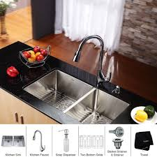 Kitchen Sink Faucet Combo Kitchen Sink And Faucet Combo Stainless Steel Rust Free Undermount