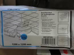 badezimmer restposten restposten duschbord set connex 1200x1200 mm dusche bad neu in