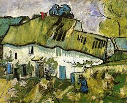 two farmhouse farmhouse with two figures 1890 vincent gogh wikiart org