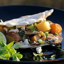 poblano mushroom and potato tacos a meatless monday recipe