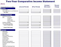 Profit And Loss Excel Template Free Income Statement Template Excel