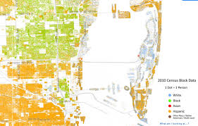 south america dot map map of south florida shows how racially segregated we are wlrn