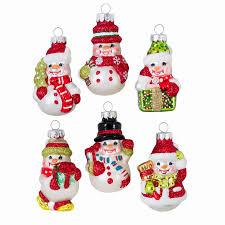 celebrations by radko mini snowman glass ornaments 6 ct