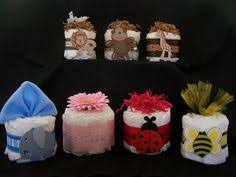 Diaper Cake Centerpieces by Mini Diaper Cakes Mini Diaper Cakes Diapers And Baby Shower