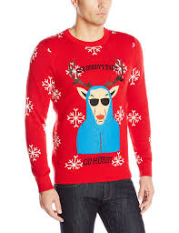 stevens men u0027s she doesn u0027t even go here ugly christmas sweater