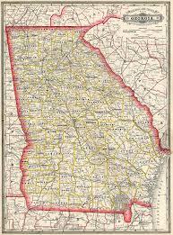 Map Of Georgia Cities Maps 1885 Georgia Maps Georgiainfo