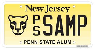 penn state alumni license plate new jersey motor vehicle commission alumni organizations