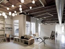 Industrial Home Interior Design by Rotunda Library Apartment Design Open Ceiling Ceilings And