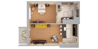 Floor Plan 3d Suite Curio A Collection By Hilton Hollywood Beach Floor Plan 3d Suite