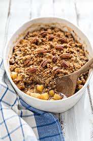 apple crisp with oatmeal pecan crumble topping eats